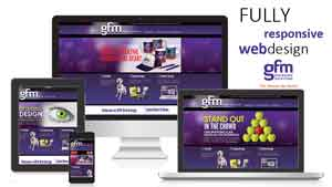 GFM fully responsive web design displayed on multiple screens
