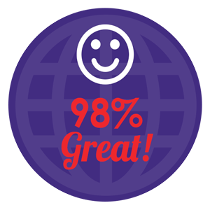 98% great!