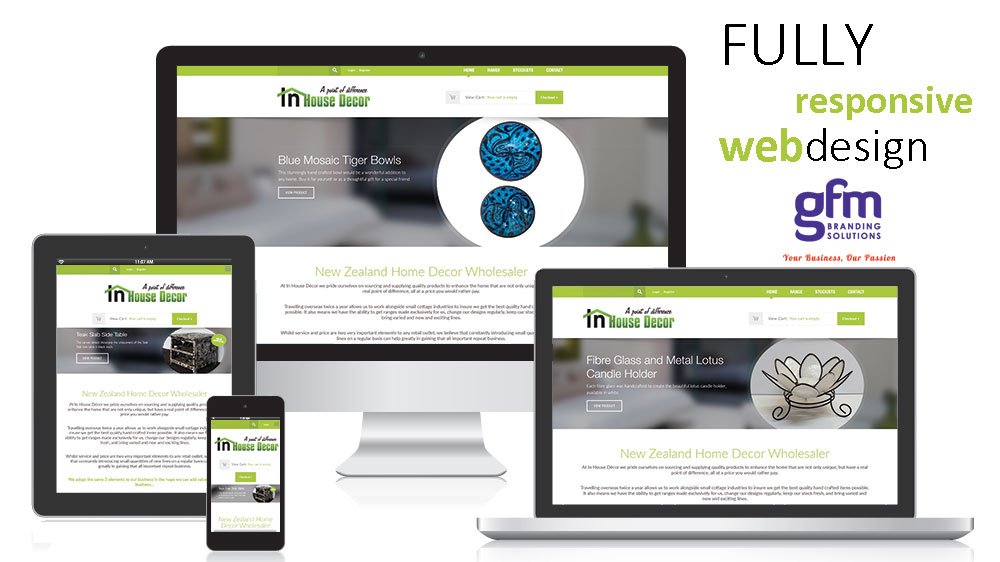 in house decor fully responsive website design on multiple screens