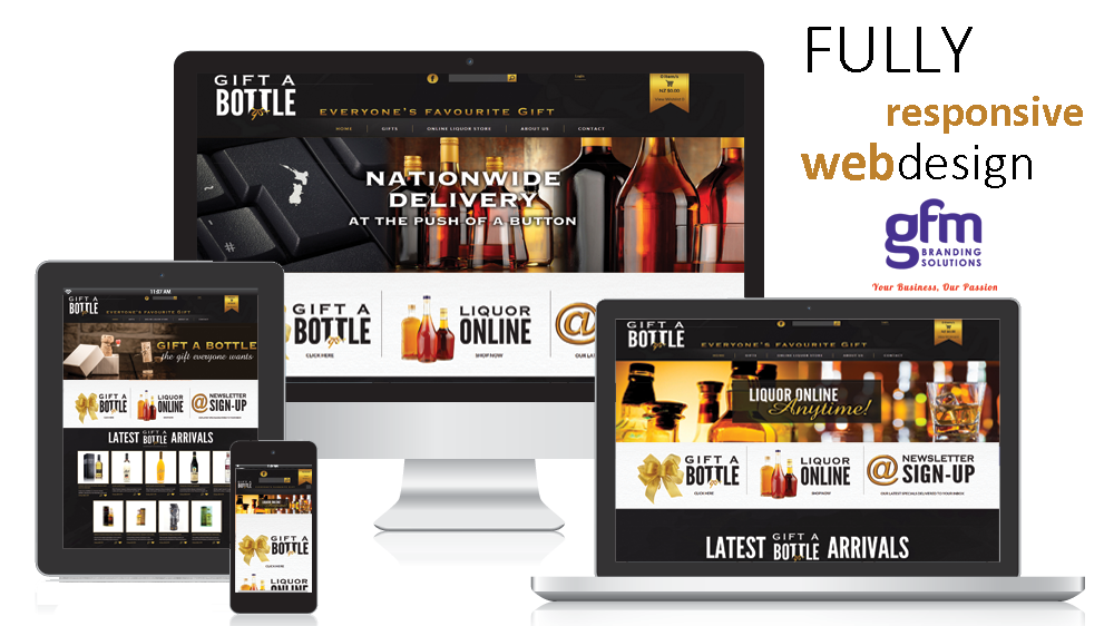 gift a bottle fully responsive website design on multiple screens