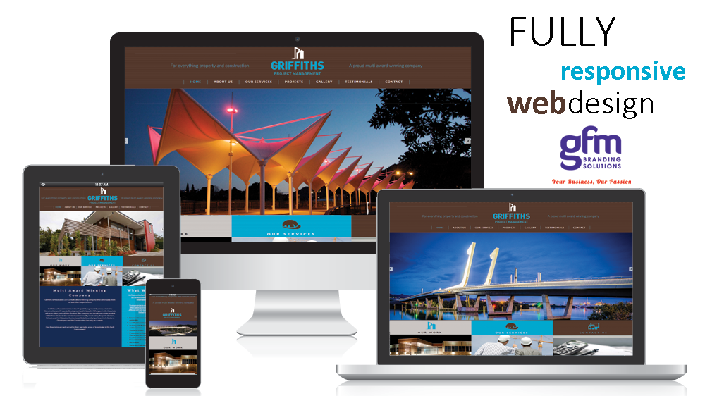 griffiths and associates fully responsive website design on multiple screens