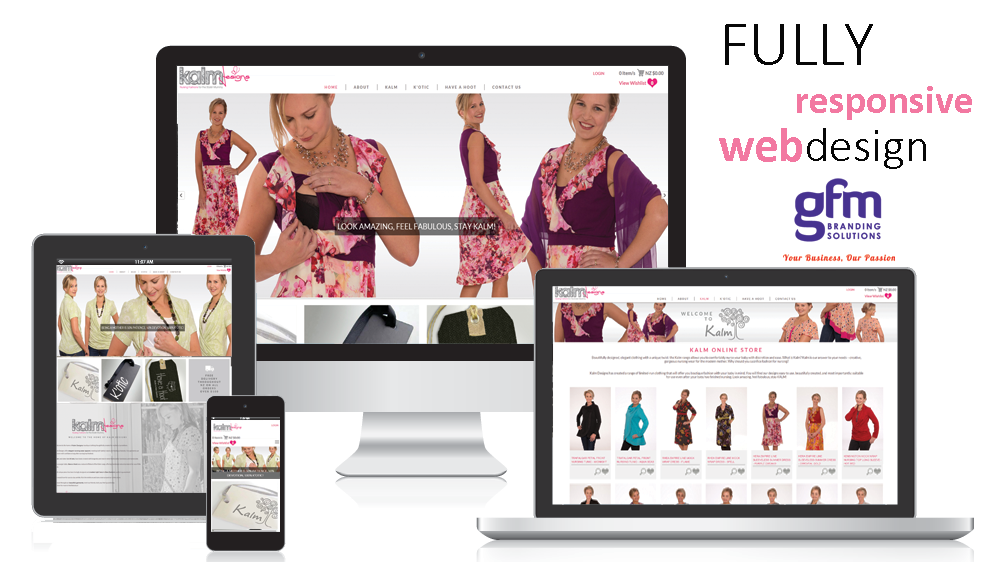 kalm designs fully responsive website design on multiple screens