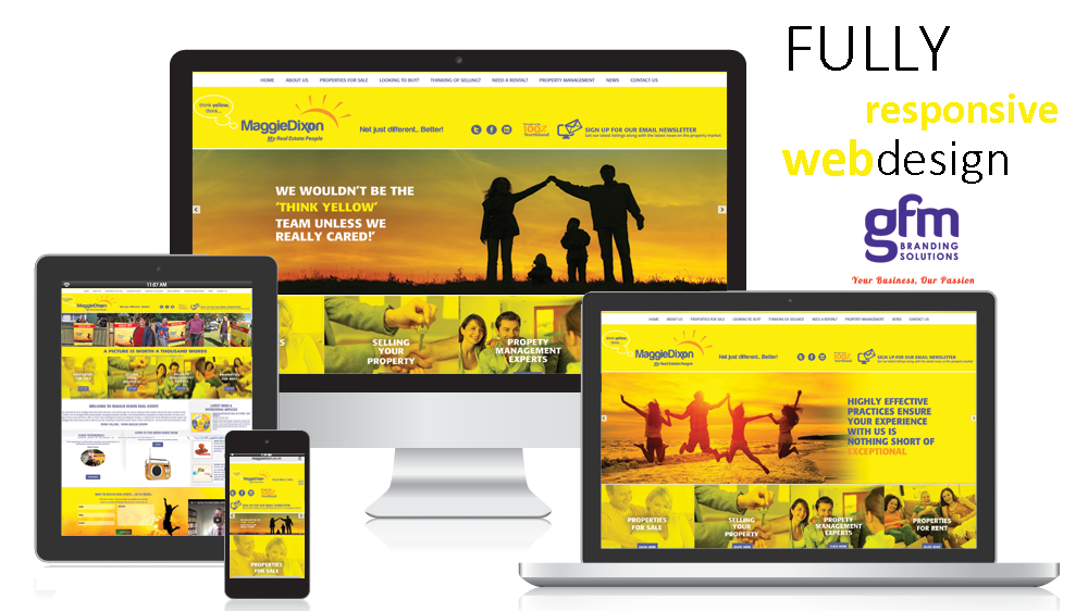maggie dixon real estate fully responsive website design on multiple screens