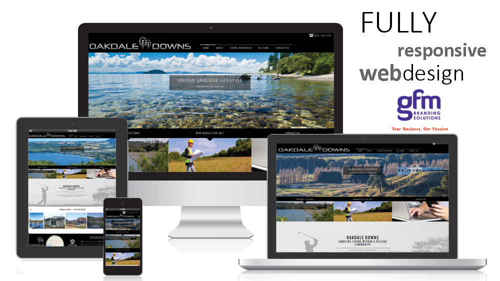 oakdale downs fully responsive website design on multiple screens