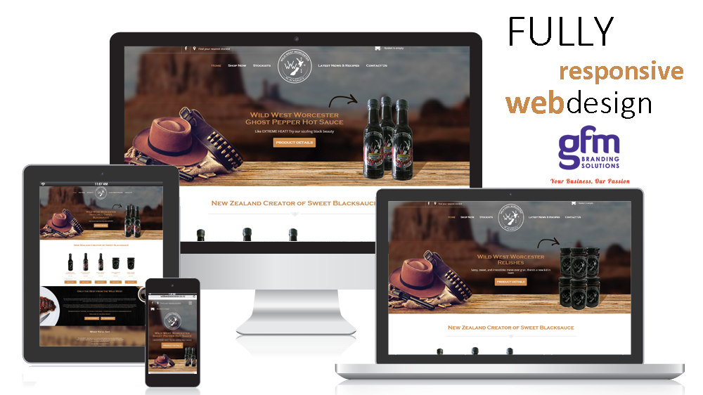 wild west worcester fully responsive website design on multiple screens