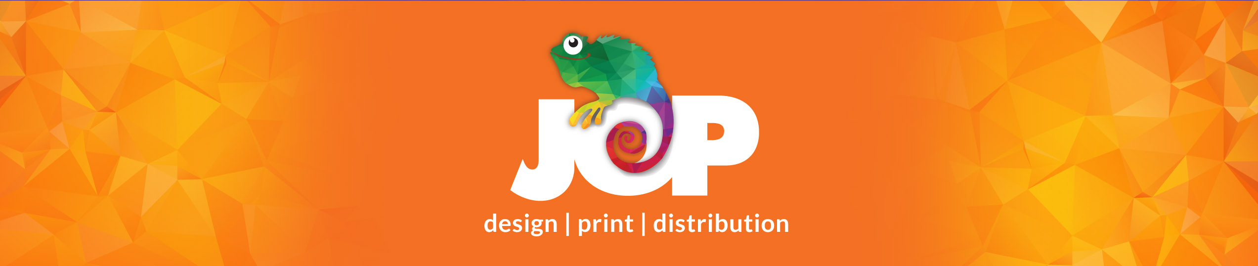 JOP design print distribution. Ollie the Chameleon