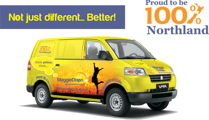 Not just different..Better! Proud to be 100% Northland. Maggie dixon real estate van