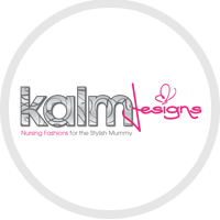 Kalm designs nursing for the stylish mummy logo